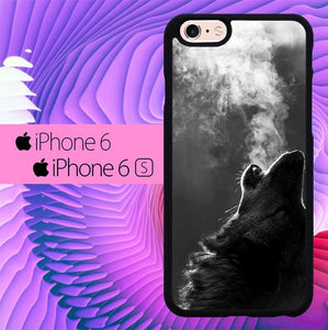 Wolf Howling Smoke L1500 hoesjes iPhone 6, iPhone 6S