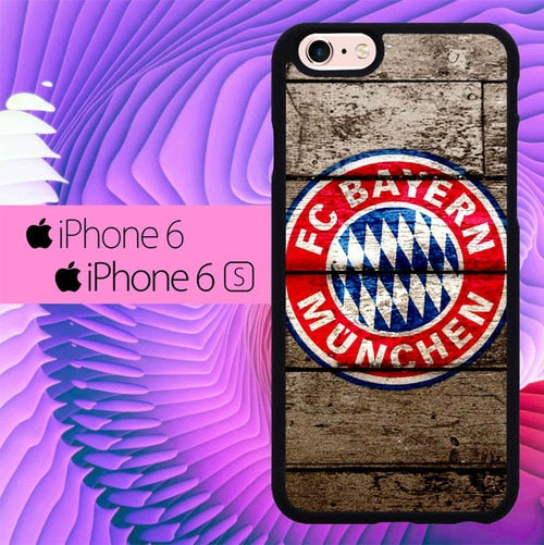 FC Bayern Munchen Club Football L1989 hoesjes iPhone 6, iPhone 6S