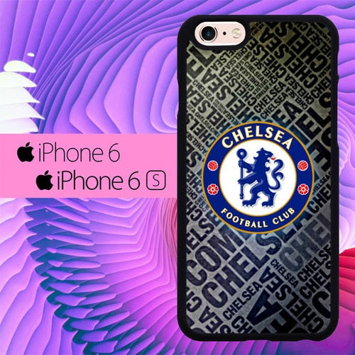 Chelsea Logo Text L2729 hoesjes iPhone 6, iPhone 6S