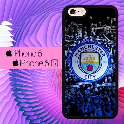 Manchester City L2736 hoesjes iPhone 6, iPhone 6S