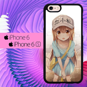 Kawai Anime Girl L2854 hoesjes iPhone 6, iPhone 6S