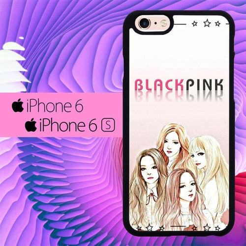 Blackpink Drawing L2890 hoesjes iPhone 6, iPhone 6S