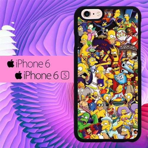 The Simpsons Collage L3019 hoesjes iPhone 6, iPhone 6S