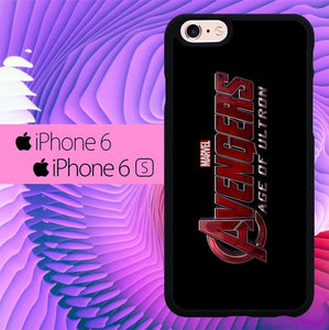 The Avengers 2 Logo L3022 hoesjes iPhone 6, iPhone 6S