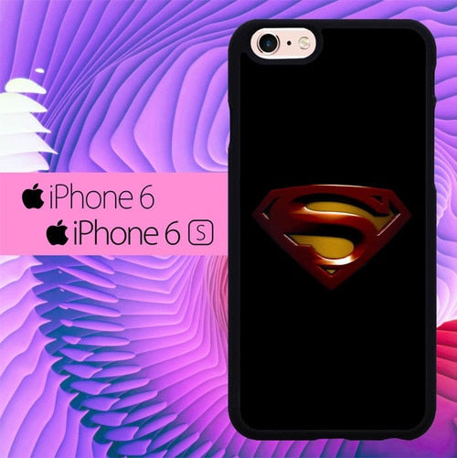 Superman Emlblem L3036 hoesjes iPhone 6, iPhone 6S