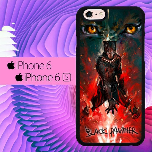 Black Panther Wallpaper L3091 hoesjes iPhone 6, iPhone 6S