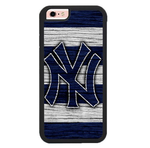New York yankees wood Logo L3096 hoesjes iPhone 6, iPhone 6S