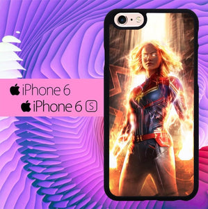 Captain Marvel L3103 hoesjes iPhone 6, iPhone 6S