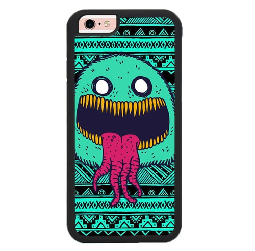 Cute Monster Aztec L3232 hoesjes iPhone 6, iPhone 6S