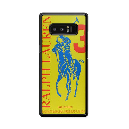 Polo Ralph Lauren Big Pony 3 Yellow Parfume Samsung Galaxy Note 8 hoesjes