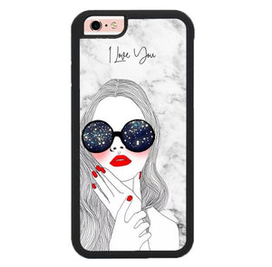 beautiful girl marble W9135 hoesjes iPhone 6, iPhone 6S
