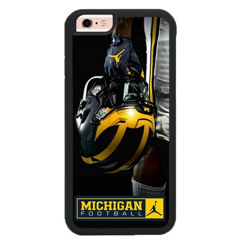 MICHIGAN FOOTBALL W9333 hoesjes iPhone 6, iPhone 6S