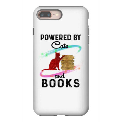 powered by cats and books iphone 8 plus hoesjes