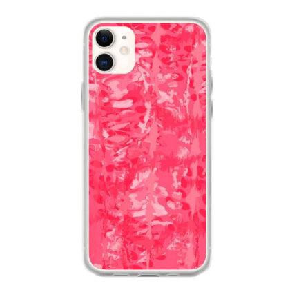 red shibori tie dye style design iphone 11 hoesjes