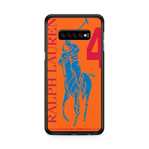 Polo Ralph Lauren Big Pony 4 Orange Parfume Samsung Galaxy S10 Plus hoesjes