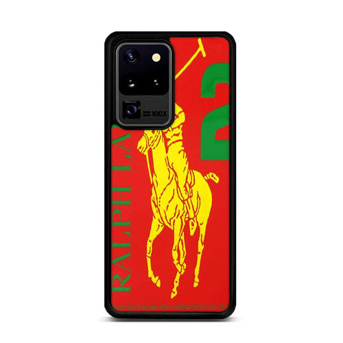 Polo Ralph Lauren Big Pony 2 Red Parfume Samsung Galaxy S20 Ultra hoesjes