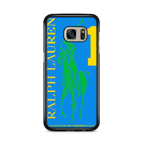 Polo Ralph Lauren Big Pony 1 Blue Parfume Samsung Galaxy S7 Edge hoesjes