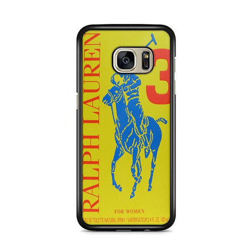 Polo Ralph Lauren Big Pony 3 Yellow Parfume Samsung Galaxy S7 Edge hoesjes