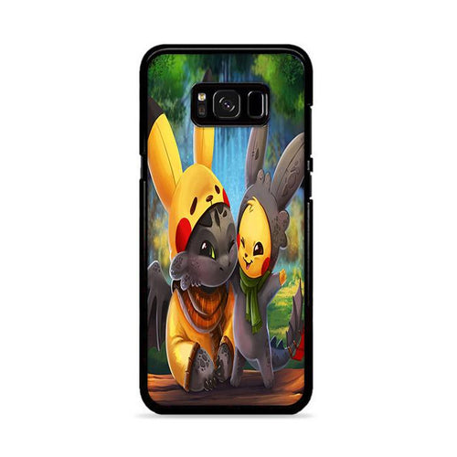 Pikachu and Toothless Samsung Galaxy S8 Plus hoesjes
