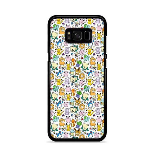 Pokemon Pattern Wallpaper Samsung Galaxy S8 Plus hoesjes