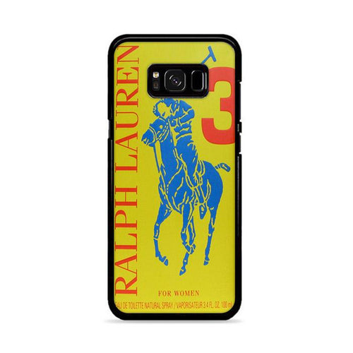 Polo Ralph Lauren Big Pony 3 Yellow Parfume Samsung Galaxy S8 hoesjes