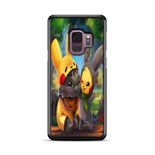Pikachu and Toothless Samsung Galaxy S9 Plus hoesjes