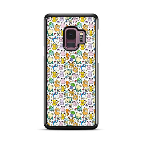 Pokemon Pattern Wallpaper Samsung Galaxy S9 Plus hoesjes