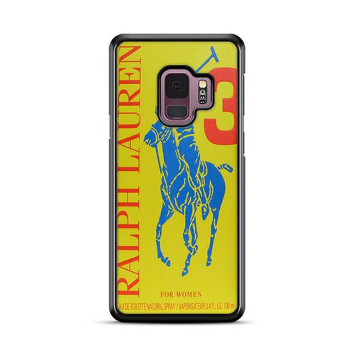 Polo Ralph Lauren Big Pony 3 Yellow Parfume Samsung Galaxy S9 hoesjes