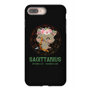 sagittarius zodiac cat iphone 8 plus hoesjes