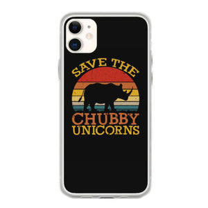 save the chubby unicorns iphone 11 hoesjes