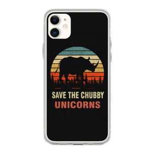 save the chubby unicorns retro vintage iphone 11 hoesjes