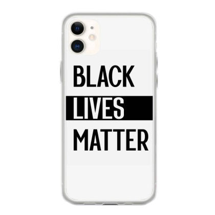 simple black lives matter in black and white letters protest gifts iphone 11 hoesjes