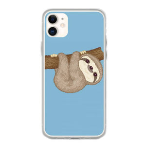 sloth on the tree iphone 11 hoesjes