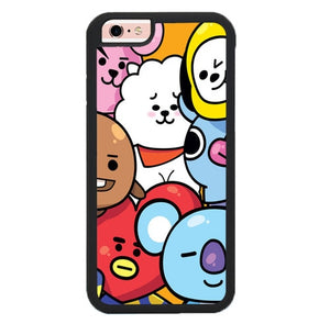 Cute Little BTS BT21 P1872 hoesjes iPhone 6, iPhone 6S