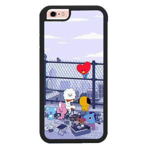 BTS BT21 Cute Rooftop P1901 hoesjes iPhone 6, iPhone 6S
