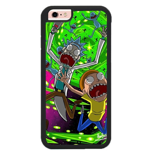 Rick And Morty Falling in Down P1956 hoesjes iPhone 6, iPhone 6S