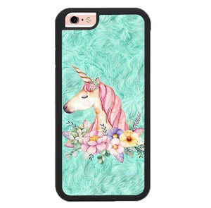 Cute Unicorn Painting P2007 hoesjes iPhone 6, iPhone 6S