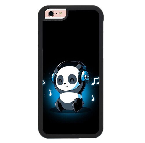 Panda Cute Music P2013 hoesjes iPhone 6, iPhone 6S