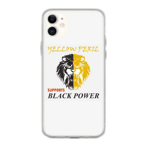 yellow peril supports black power iphone 11 hoesjes