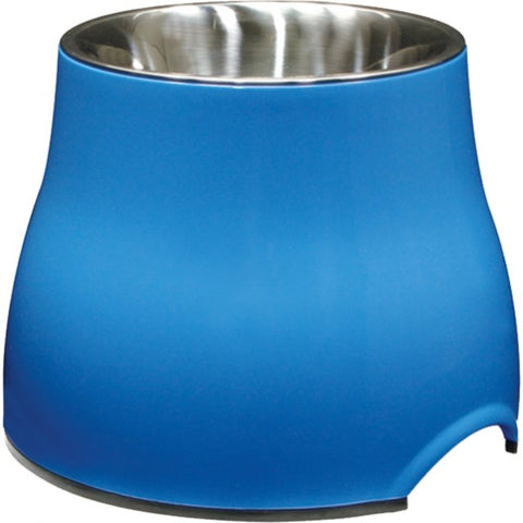 DOGIT 2 IN 1 ELEVATED DOG DISH BLUE