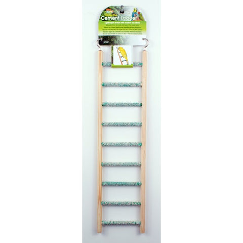 CEMENT LADDER WITH WOOD FRAME 9 STEPS