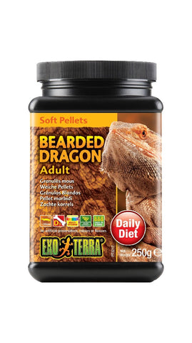 EXO TERRA BEARDED DRAGON FOOD ADULT 250G