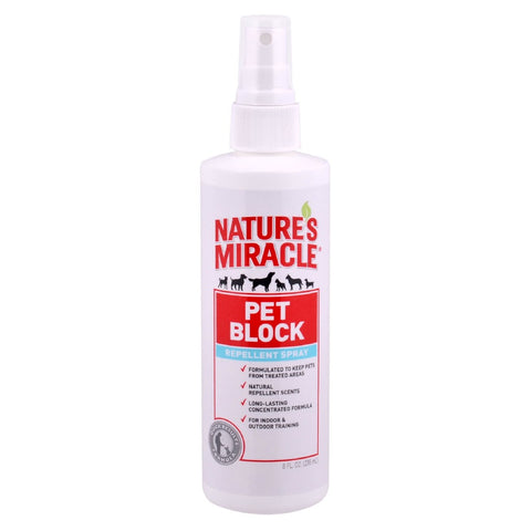 NATURES MIRACLE PET BLOCK REPELLENT SPRAY FOR DOGS 236ML