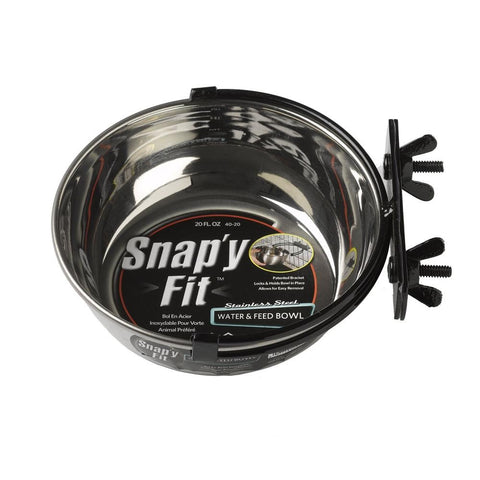 SNAPY FIT STAINLES STEEL BOWL 600ML