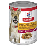 HILLS SCIENCE DIET DOG PUPPY STEW WITH CHICKEN AND VEGETABLES CAN 370G TRAY