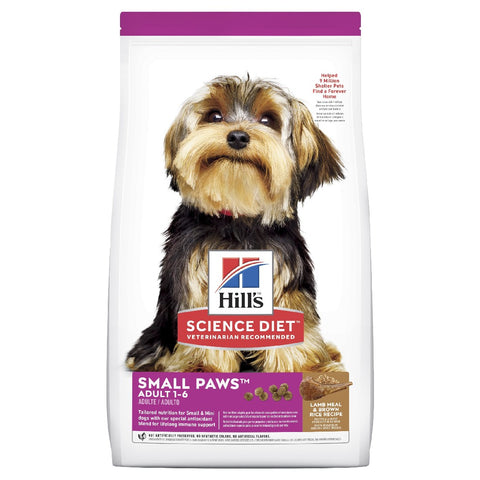 Hills Science Diet Adult Dry Dog Food Small Paws Lamb & Brown Rice 2.04kg