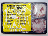 CANINE COUNTRY COMPOSITE RED BARF TRAY 1KG