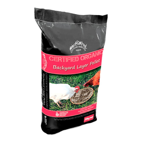 COUNTRY HERITAGE FEEDS CERTIFIED ORGANIC BACKYARD LAYER PELLETS 20KG
