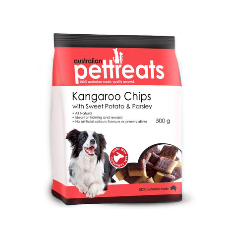 NEXT GENERATION KANGAROO CHIPS WITH SWEET POTATO AND PARSLEY 500G