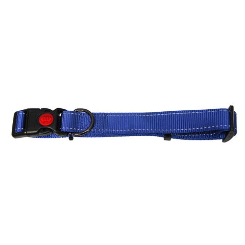 Bainbridge Reflective Adjustable Dog Collar Blue
